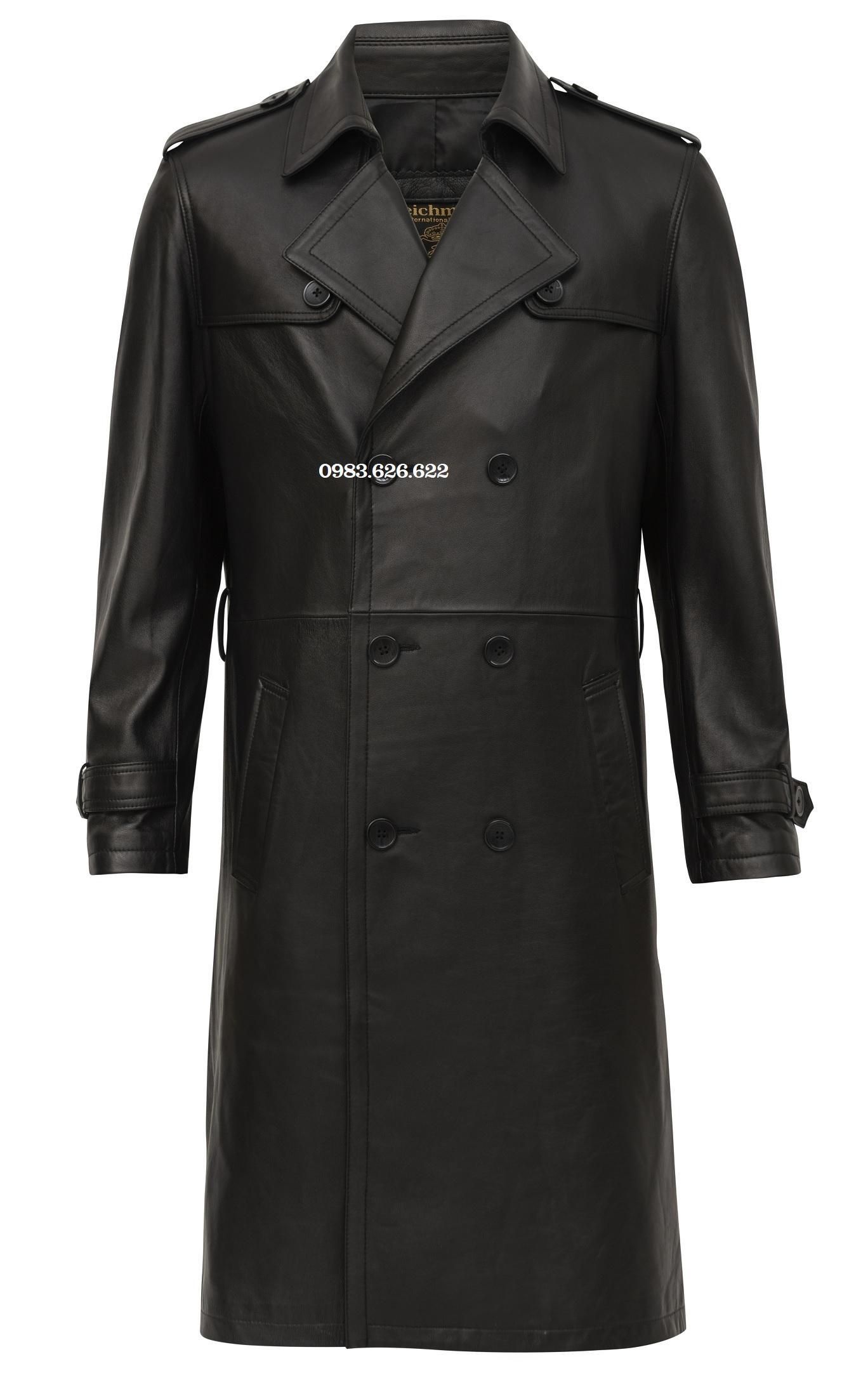áo khoác măng tô da